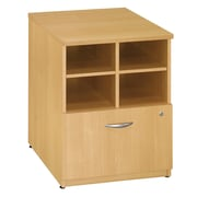 Bush Business Furniture Westfield 24W Storage Cabinet, Light Oak, Installed (WC60304FA)