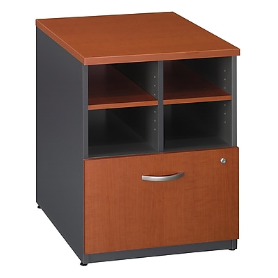 Bush Business Furniture Westfield 24W Storage Cabinet, Auburn Maple, Installed (WC48504FA)