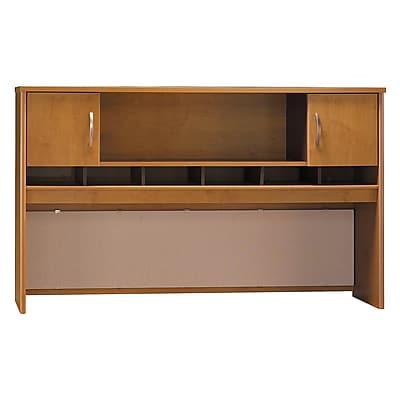 Bush Business Furniture Westfield 72W 2 Door Hutch, Natural Cherry, Installed (WC72466KFA)