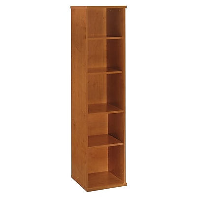 Bush Business Furniture Westfield 18W 5 Shelf Bookcase, Natural Cherry, Installed (WC72412FA)