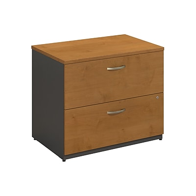 Bush Business Furniture Westfield Lateral File Cabinet, Natural Cherry, Installed (WC72454CSUFA)