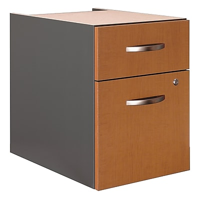 Bush Business Furniture Westfield 2 Drawer 3/4 Pedestal, Natural Cherry (WC72490)