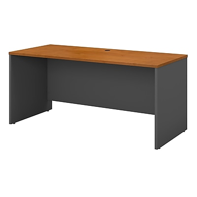 Bush Business Furniture Westfield 60W x 24D Credenza Desk, Natural Cherry (WC72461)