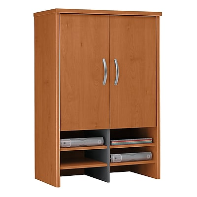 Bush Business Furniture Westfield 30W Hutch, Natural Cherry, Installed (WC72497FA)