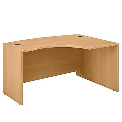 Bush Business Furniture Westfield 60W x 43D Right Handed L Bow Desk, Light Oak (WC60322)