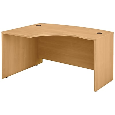 Bush Business Furniture Westfield 60W x 43D Left Handed L Bow Desk, Light Oak (WC60333)