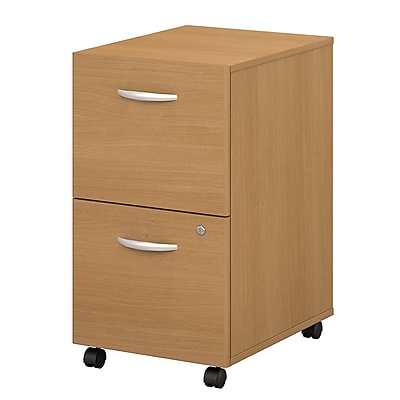 Bush Business Furniture Westfield 2 Drawer Mobile File Cabinet, Light Oak, Installed (WC60352SUFA)