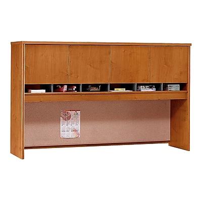 Bush Business Furniture Westfield 72W 4 Door Hutch, Natural Cherry (WC72477K)