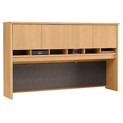 Bush Business Furniture Westfield 72W 4 Door Hutch, Light Oak (WC60377K)