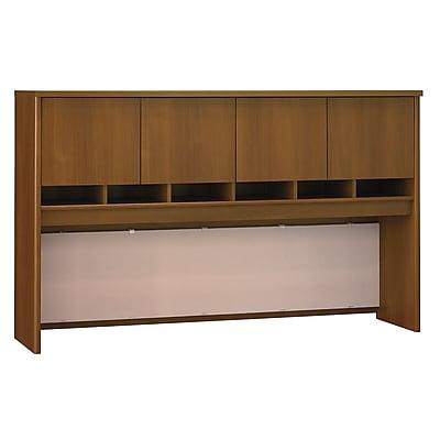 Bush Business Furniture Westfield 72W 4 Door Hutch, Warm Oak (WC67577K)