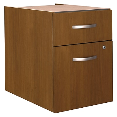 Bush Business Furniture Westfield 2 Drawer 3/4 Pedestal, Warm Oak (WC67590)