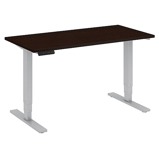 Move 80 Series by Bush Business Furniture 48W x 24D Height Adjustable Standing Desk, Mocha Cherry, Installed (HAT4824MRSKFA)