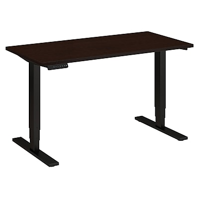 Move 80 Series by Bush Business Furniture 48W x 24D Height Adjustable Standing Desk, Mocha Cherry, Installed (HAT4824MRSBKFA)