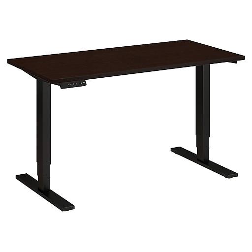 Move 80 Series by Bush Business Furniture 48W x 24D Height Adjustable Standing Desk, Mocha Cherry, Installed (HAT4824MRSBKFA)