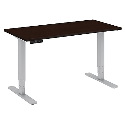 Move 80 Series by Bush Business Furniture 48W x 24D Height Adjustable Standing Desk, Mocha Cherry, Installed (HAT4824MRKFA)