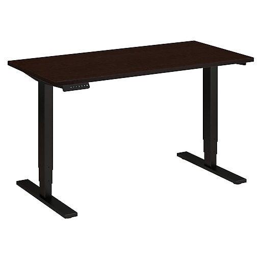 Move 80 Series by Bush Business Furniture 48W x 24D Height Adjustable Standing Desk, Mocha Cherry (HAT4824MRBK)