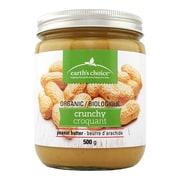Earth's Choice Organic Crunchy Peanut Butter 500g, 12/Pack