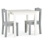 Tot Tutors 76739 Inspire Table and 2 Chairs, Grey & White