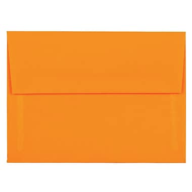 JAM Paper® A6 Invitation Envelopes, 4.75 x 6.5, Brite Hue Ultra Orange, 1000/Pack (80344B)