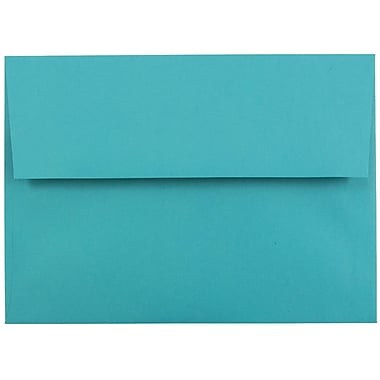 JAM Paper® A7 Invitation Envelopes, 5.25 x 7.25, Brite Hue Sea Blue Recycled, 100/Pack (27785g)
