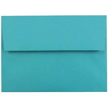 JAM PaperMD – Enveloppes de pap. rec. avec ferm. gommée Brite Hue, format invitation, 5 1/4 x 7 1/4 po, bleu de mer, 100/paquet