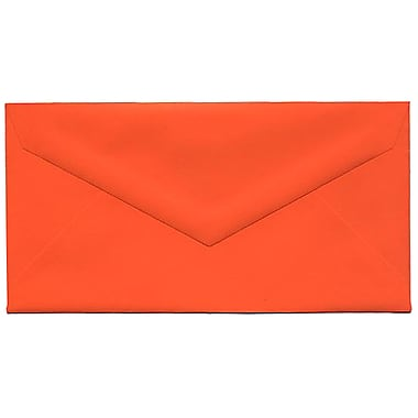 JAM Paper® Monarch Envelopes, 3.88 x 7.5, Brite Hue Orange, 100/Pack (34097575g)