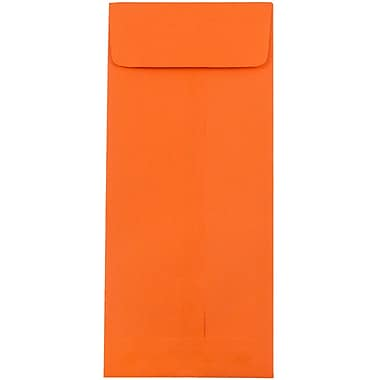 JAM Paper #10 Policy Envelopes, 4 1/8 x 9.5, Brite Hue Orange Recycled, 100/Pack (15887g)