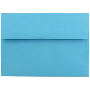 JAM Paper® A7 Invitation Envelopes, 5.25 x 7.25, Brite Hue Blue Recycled, 100/Pack (54093g)