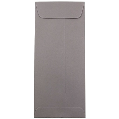 JAM Paper® #10 Policy Envelopes, 4 1/8 x 9.5, Dark Grey, 1000/Pack (36396445B)