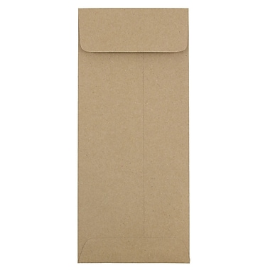 JAM Paper® #11 Policy Envelopes, 4.5 x 10.38, Brown Kraft Recycled, 1000/Pack (2119018855B)