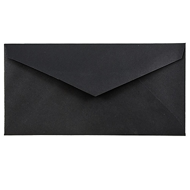 JAM Paper® Monarch Envelopes, 3.88 x 7.5, Black Linen Recycled, 100/Pack (317572g)