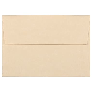 JAM Paper® 4bar A1 Envelopes, 3.63 x 5 1/8, Parchment Brown Recycled, 100/Pack (900755332g)