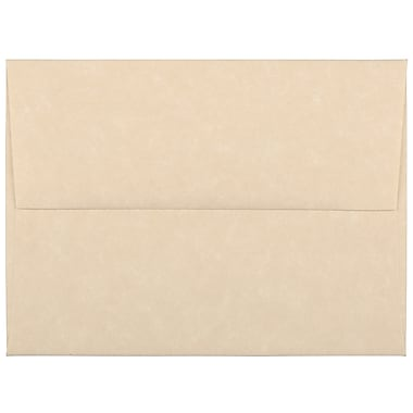 JAM Paper® A2 Invitation Envelopes, 4.38 x 5.75, Parchment Brown Recycled, 100/Pack (53447g)