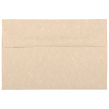 JAM Paper A8 Invitation Envelopes, 5.5 x 8.125, Parchment Brown Recycled, 100/Pack (52066g)