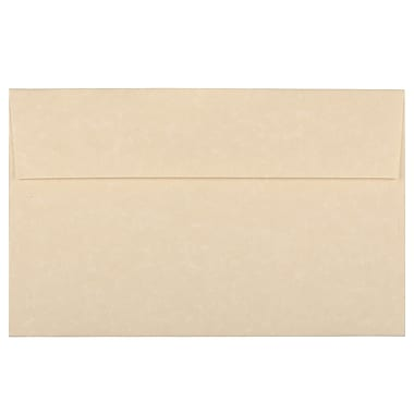 JAM Paper A10 Invitation Envelopes, 6 x 9.5, Parchment Brown Recycled, 100/Pack (52074g)