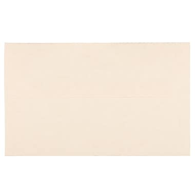 JAM Paper A10 Invitation Envelopes, 6 x 9.5, Parchment Natural Recycled, 100/Pack (47876g)