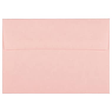 JAM Paper A7 Invitation Envelopes, 5.25 x 7.25, Parchment Pink Recycled, 100/Pack (97834g)