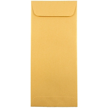 JAM Paper® #10 Policy Envelopes, 4 1/8 x 9.5, Stardream Metallic Gold, 50/Pack (1261602g)