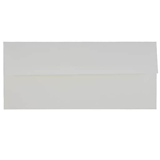 JAM Paper® #10 Business Strathmore Envelopes, 4.125 x 9.5, Bright White Linen, 50/Pack (18506I)