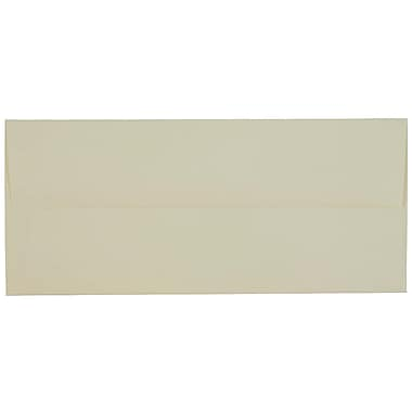 JAM Paper® #10 Business Envelopes, 4 1/8 x 9.5, Strathmore Ivory Laid, 100/Pack (17877g)