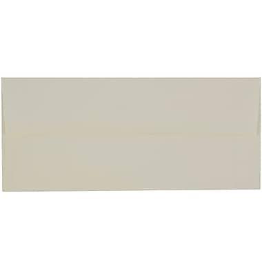 JAM PaperMD – Enveloppes Strathmore à ouverture latérale et à rabat gommé, fini vergé, 4 1/8 x 9 1/2 po, blanc naturel, pqt/100