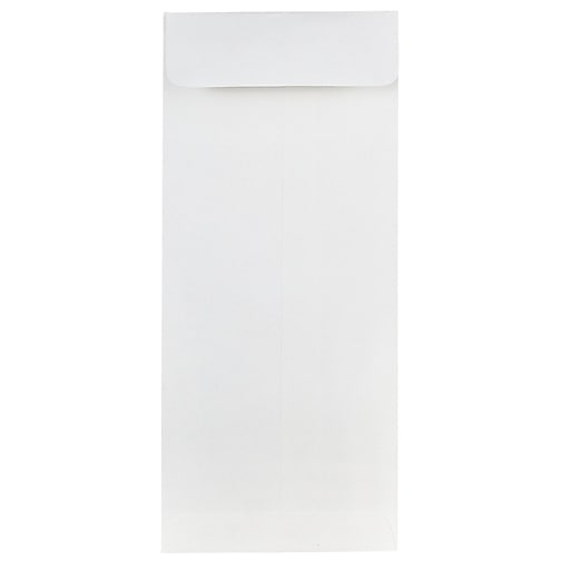 JAM Paper® #10 Policy Business Strathmore Envelopes, 4.125 x 9.5, Bright White Wove, 50/Pack (191248I)