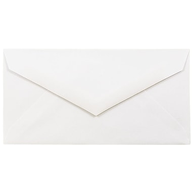 JAM Paper® Monarch Envelopes, 3.88 x 7.5, Strathmore Bright White Wove with V-Flap, 200/Pack (195201g)