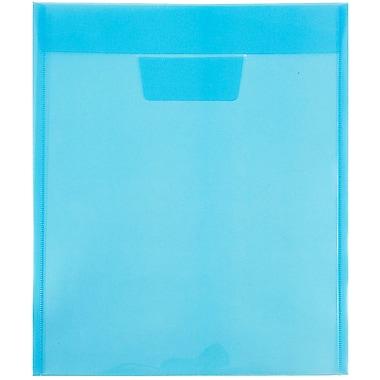 JAM PaperMD - Enveloppes en plastique avec ouverture au sommet et rabat à insertion, 9 7/8 x 11 3/4 po, bleu, 12/paq.