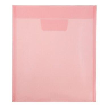 Jam PaperMD – Enveloppes en plastique avec fente à rabat, format lettre, 9 7/8 x 11 3/4 po, rouge, 12/pqt