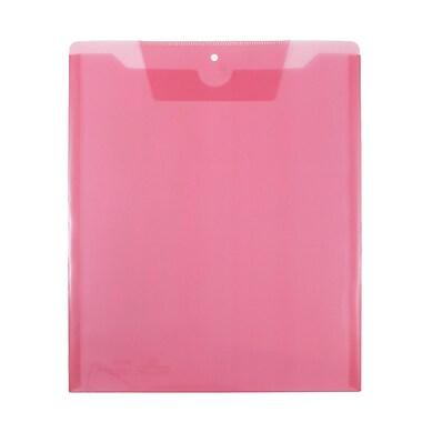 Jam PaperMD – Enveloppes pour catalogue de travail avec fente à rabat, format lettre, 9 1/2 x 11 1/2 po, rose, paq./12