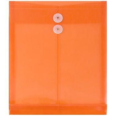 JAM PaperMD – Enveloppes à ouverture au sommet, fermeture à bouton plastique et ficelle, 9 3/4x11 3/4 po, orange, 12/paq.