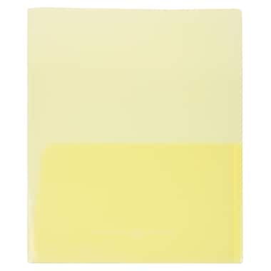 JAM Paper® Plastic See Through Two Pocket Folder, Yellow 108/Pack (381YELLOW108)