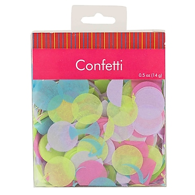 JAM Paper Box of MultiColour Confetti, 1 ounce per box (2226817010g)