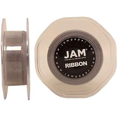 JAM PaperMD – Ruban lustré en organza, 0,88 po de largeur x 25 verges, argent, 2/paquet (807SHsi25g)